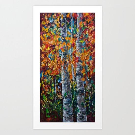 Aspen Trees - 1 Art Print