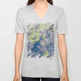 Looking Down or Looking Up Unisex V-Neck