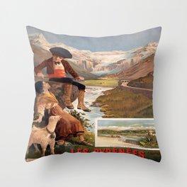 Les Pyrenees Throw Pillow
