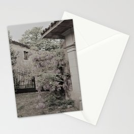 old village garden Stationery Cards