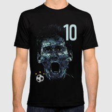 Messi Mens Fitted Tee Black SMALL