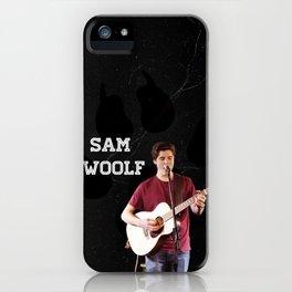 Sam Woolf - Black, Wolf Print iPhone Case
