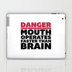 Mouth Faster Than Brain Funny Quote Laptop & iPad Skin