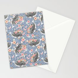Love Ocean graphic tee Stationery Cards