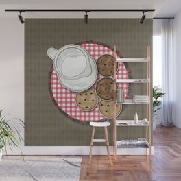 Milk and Cookies Wall Mural