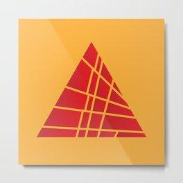 Sliced Red Pyramid Metal Print