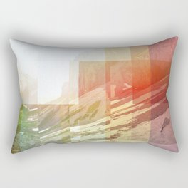 Pixel view over the valley Rectangular Pillow