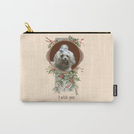 DOG LOVER CHRISTMAS GREETINGS Carry-All Pouch