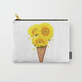 Ice cream with sunflowers Carry-All Pouch