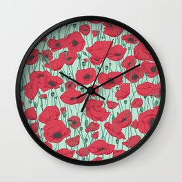 Poppies in August Wall Clock