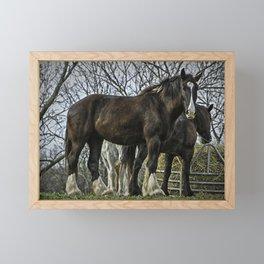 """Horse """"The Big Guy"""" Framed Mini Art Print"""