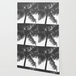 Palm Tree Grey Summer Beach Wallpaper