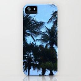 Palm trees at Sunway Lagoon Resort, Malaysia iPhone Case