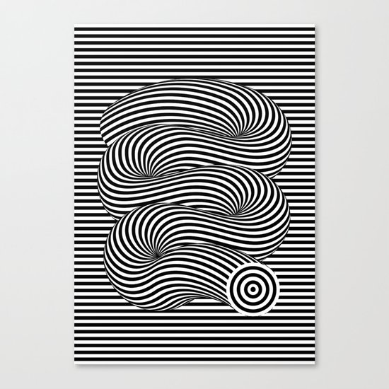 OPTICAL Slinky Canvas Print