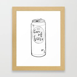 Can of Beers Framed Art Print