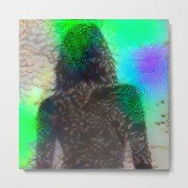 Flower Girl (Neon) Metal Print