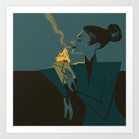 discworld Art Prints featuring Adora Belle by grrrenadine