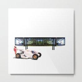 Mork-egg-Machine + Glass House Metal Print