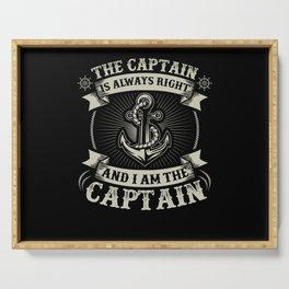 Captain Skipper Sailing Sailor Yacht Serving Tray