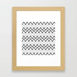 Black lines and dots pattern Framed Art Print