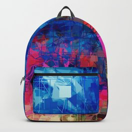 Bright Blues and Pinks Pattern Abstract Backpack