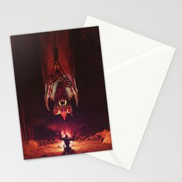 Hir'eek the bat Loa, Lord of the midnight sky. Stationery Cards