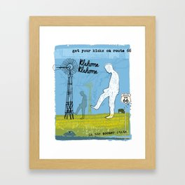 Get your Kicks on Route 66 Framed Art Print
