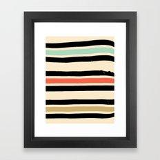 Jeremy Blake's Visit To Rockaway Beach — Matthew Korbel-Bowers Framed Art Print