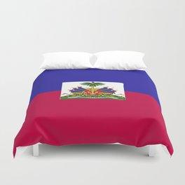 Haiti flag emblem Duvet Cover