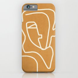 Abstract Minimal Woman Portrait 2 iPhone Case
