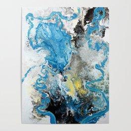 Swirling Sea Foam Poster