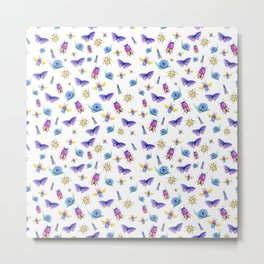 Cute Insects Metal Print