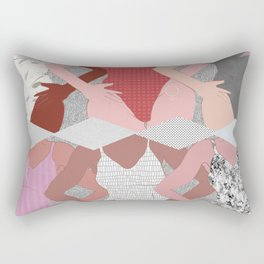My Thighs Rub Together & I'm OK With That - Positive Body Image Digital Illustration Rectangular Pillow
