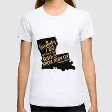 Louisiana Rising - Everything I Do Gonna Be Funky  Ash Grey Womens Fitted Tee MEDIUM