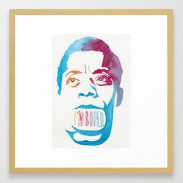 JAMES BALDWIN//LAST WORDS Framed Art Print