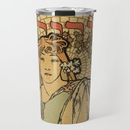 The Samaritan by Alphonse Mucha Travel Mug