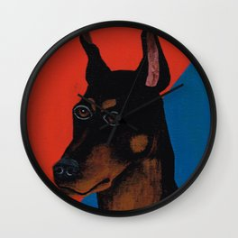 Doberman Pinscher Don Wall Clock