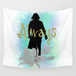 Always: Severus with lilies Wall Tapestry