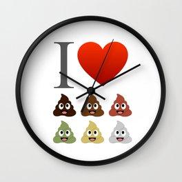 I love pooping Wall Clock