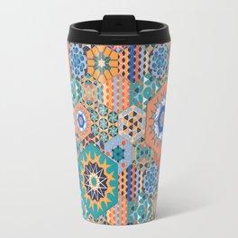Hexagons Tiles (Colorful) Travel Mug