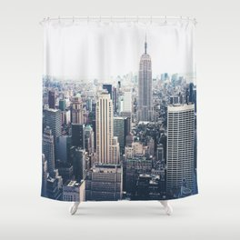 New York City and the Empire State Building Shower Curtain