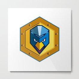 Cyber Punk Chicken Hexagon Icon Metal Print