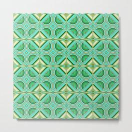 Pattern turquoise green Metal Print