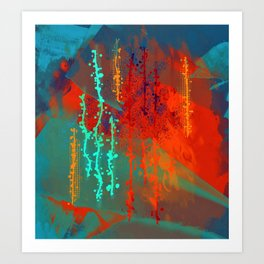 Abstract In Southwest Colors Art Print
