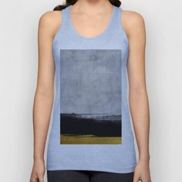 Black and Gold grunge stripes on modern grey concrete abstract backround I - Stripe - Striped Unisex Tank Top