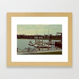 Boat Yard Framed Art Print