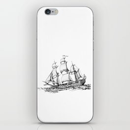 sailing ship . Home decor Graphicdesign iPhone Skin