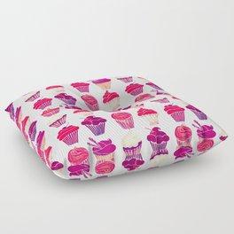 Cupcakes – Fuchsia Palette Floor Pillow