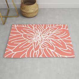 Abstract Flower Coral Rug