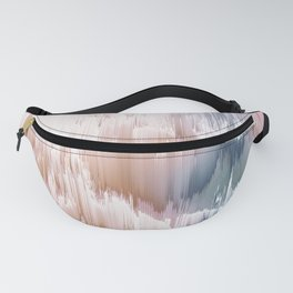 Etherial light in blush and blue - Glitch art Fanny Pack